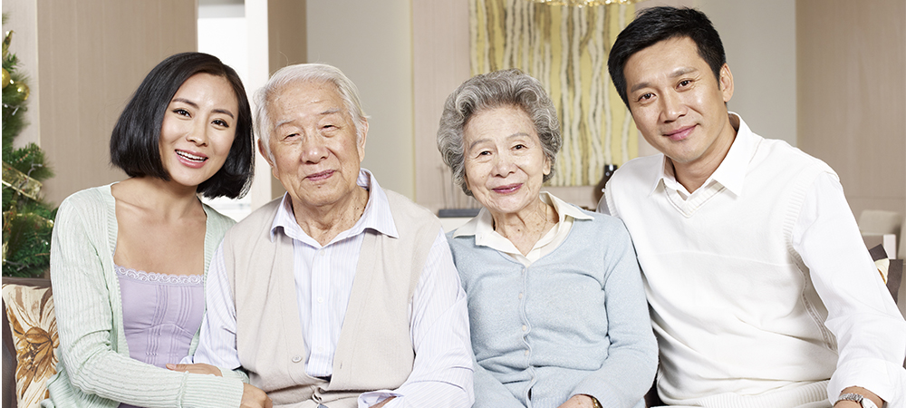 Asian family who use Daily Money Management services